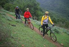 La cordillera tambi�n sirve para hacer mountain bike.