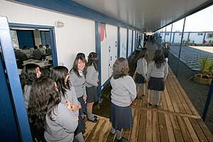 Inauguran la escuela modular post terremoto m�s grande del pa�s