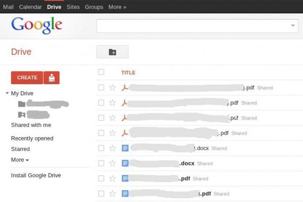 Sitio web filtra posible interfaz de Google Drive