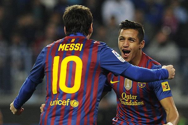 S�nchez opac� a Messi y fue escogido el mejor del Bar�a