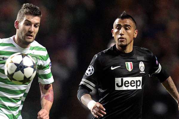 Vidal y la Juventus golean de visita y dan gran paso a los cuartos de final de la Champions