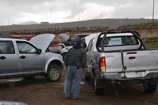 Este viernes concluy� traslado de veh�culos robados desde Bolivia a Chile