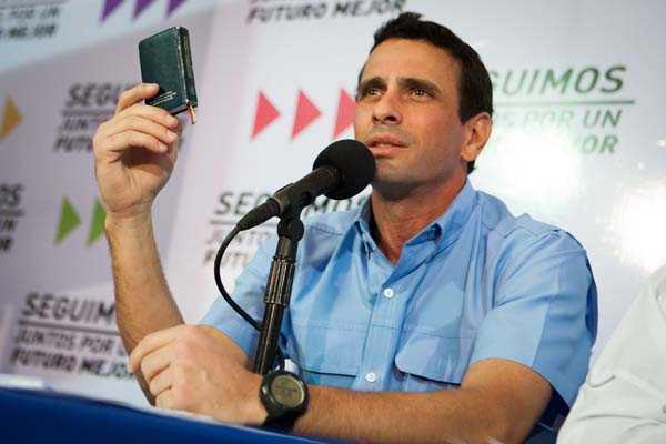 Henrique Capriles enfrentar�a a Maduro en elecciones presidenciales venezolanas