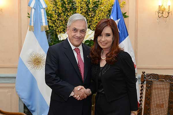 Presidente Pi�era y Cristina Fern�ndez se re�nen en bilateral en Roma