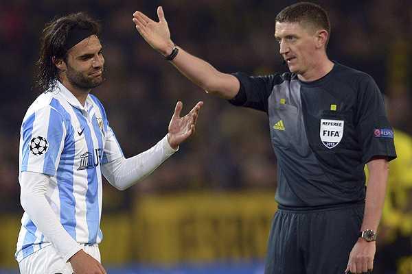 El M�laga presentar� queja oficial ante la UEFA por arbitraje con Dortmund