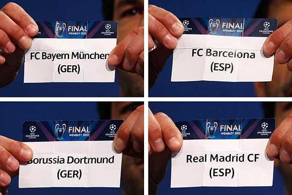 UEFA oficializa fechas y horarios de las semifinales de la Champions League