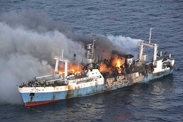 La Armada confirma hundimiento de pesquero chino en la Ant�rtica