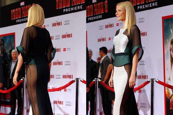 'Iron Man': Gwyneth Paltrow sorprende con vestido en avant-premiere