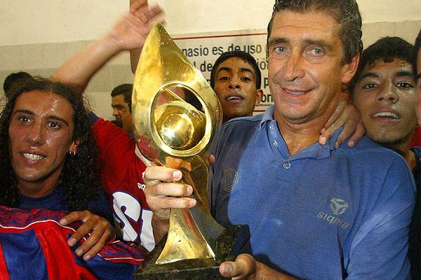 Pellegrini y el t�tulo de la Copa Mercosur obtenido en su paso por San Lorenzo.