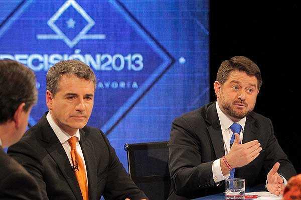 Orrego y Velasco disputan centro pol�tico en �ltimo debate por TVN