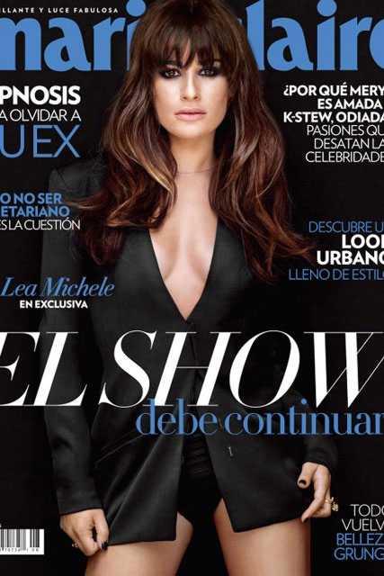 Pol�mica por portada de Lea Michele tras la muerte de Cory Monteith