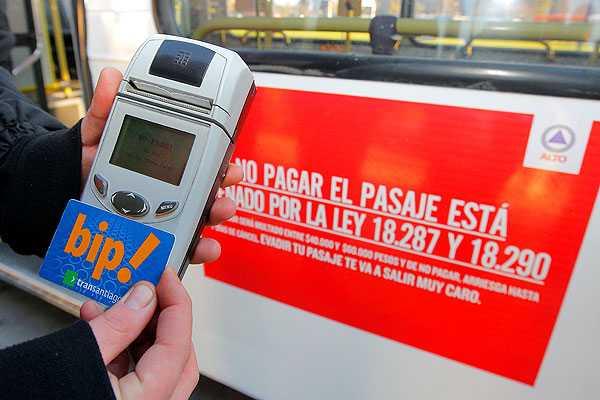Transantiago: Multas contra evasores se han septuplicado en Alsacia-Express
