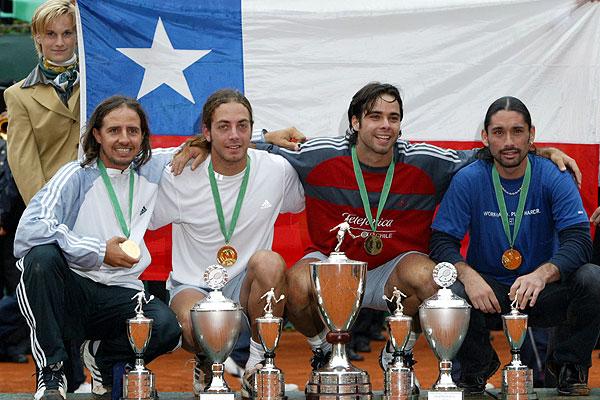Mass�, Gonz�lez y R�os, campeones en D�sseldorf 2003.