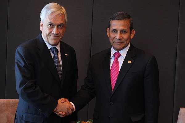 Piñera y Humala entregarán mensaje simultáneo tras la lectura del veredicto en La Haya