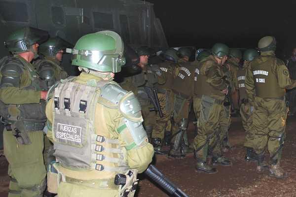 Realizan operativo tras incidente a balazos en Arauco que dejó un carabinero muerto